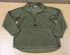 USED MEDIUM MILITARY USMC POLARTEC FLEECE HALF ZIP PULLOVER COYOTE BROWN PECKHAM