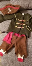 Vintage Old Navy Unisex Boy/Girl Pirate Buccaneer Halloween Costume 12 - 24 mos