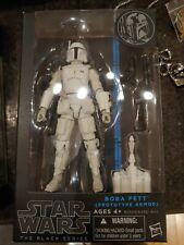 "Boba Fett 6"" White Prototype Armor Black Series Star Wars Hasbro Walgreens Ex"