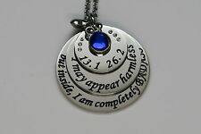 I am completely BADASS Stainless Steel 13.1 26.2  Favorite Run Necklace