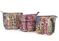 Indian Banjara Shoulder Purse Vintage Hand Embroidered Boho Leather Womens Bag