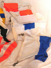 """Vintage Navy Maritime Ship Signal Code Flags & Pennants Cotton w Brass Snaps 24"""""""
