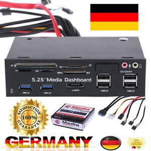"5.25"" ESATA Media Dashboard Front Panel Multi Card Reader USB 2.0 USB 3.0 A2G4"