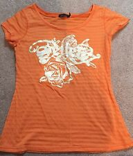 Seven7 Graphic Orange Tshirt Size Small