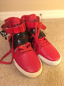 Radii Straight Jacket Vlc FM1037 Red High Top Sneakers Size 8