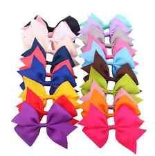20 X Handmade Bow Hair Clip Alligator Clips Girls Ribbon Kids Sides Accessories