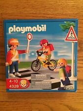 Playmobil 4328 School Crossing Guard with Children New in Box!