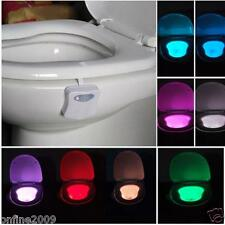 8 Colors LED Toilet Bathroom Human Motion Activated Seat Sensor Lamp Night Light