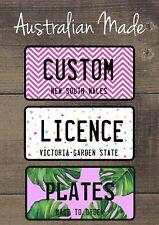 Personalised Name Novelty Licence Number Plates | Custom Kids Gift | Custom
