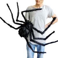 Black Spider Halloween Decoration Haunted House Prop Indoor Outdoor Wide NEW GB