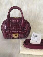 New Salvatore Ferragamo Fiamma Women's Bag Red Vino $2400 ❤❤❤