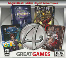 4 GREAT GAMES Gojii's Best Hidden Object Adventure PC Windows & MAC Games - NEW