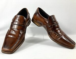 MENS PATRICK COX BROWN SLIP ON LOAFERS SHOES  Size UK 8  EUR 42