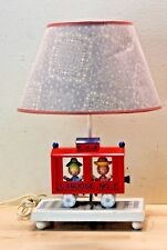 Vintage 1975 Red Caboose No. 7 Lamp with Night Light and Shade B-8774