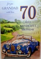 70th GRANDAD BIRTHDAY CARD AGE 70 QUALITY CARD WITH LOVELY VERSE CHAMPAGNE RANGE
