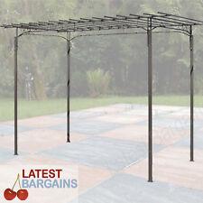 Outdoor Metal Rose Arch Garden Arbor Steel Decor Feature Pergola Climbing Frame
