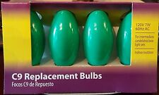 Light Keeper Pro Ceramic Green C9 Replacement Bulbs 120V 7W 60Hz Ac - 4-Count