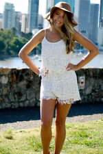 Lace Hand-wash Only Solid Jumpsuits, Rompers & Playsuits for Women