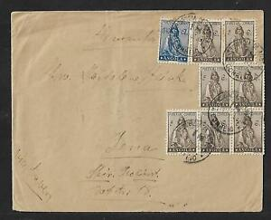 ANGOLA TO GERMANY MULTIFRANKED COVER 1930