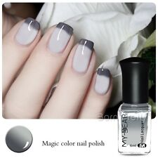 Nail Art Polish Peel Off Thermal Color Changing Varnish Gray to White Decor 6ml
