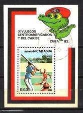 Sports Nicaragua (24) bloc oblitéré