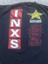 RARE VINTAGE 80s INXS CALLING ALL NATIONS TOUR 1988 BLACK 2 SIDED t-shirt XL