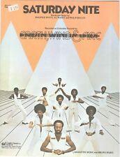 "EARTH, WIND & FIRE ""SATURDAY NITE"" SHEET MUSIC-1976-PIANO/VOCAL/CHORDS-RARE-NEW!"