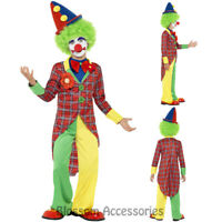 CK463 Deluxe Clown Jester Kids Circus Boys Girls Book Week Fancy Dress Costume