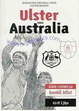 AUSTRALIA 1996 RUGBY TOUR PROGRAMME v ULSTER 16th November at Belfast