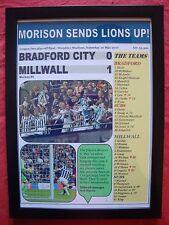 Bradford City 0 Millwall 1 - 2017 League One play-off final - framed print