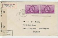 united states 1945 william brown M.D. florida centennial stamps cover ref 21100