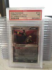2005 EX UNSEEN FORCES 112/115 UMBREON EX Holo FOIL PSA 7 Pokemon