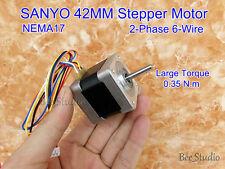 NEMA17 SANYO Stepping Motor 2-phase 6-wire 42MM Stepper Motor 1.8 Degree 0.35N.m
