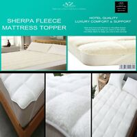 Luxury Mattress Topper Soft Fleece Sherpa Matress Sheepskin Fur Comfortable Warm