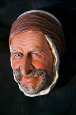 Bossons PERSIAN Chalkware Character Head Mask Vintage Wall Plaque