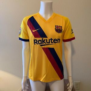 FC Barcelona 2019/20 Away Soccer Jersey Men's Size Small - La Liga