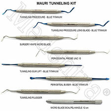 MEDENTRA® DENTAL MAURI TUNNELING KIT GUM TUNNEL GRAFTING LIFT PROCEDURE SET 8PCS