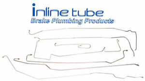 1957 Cadillac Series 60 Complete Manual Brake Line Set Lines Kit Tubes OE Steel