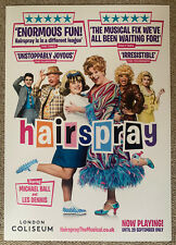 More details for hairspray 2021 - michael ball - the musical theatre promo card poster 42 x 29 cm