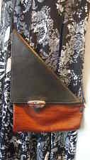 Tom Thomas Leathers Purse Angle Brown Black Over The Shoulder Handbag Cross Body