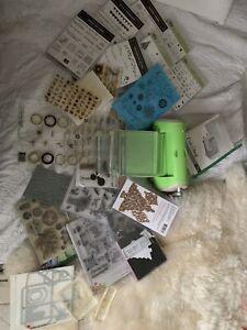 Craft clearout- cuttlebug machine+ embossing folders bundle/joblot
