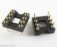 5 IC Socket Adapter 8 PIN Round DIP High Quality Gold