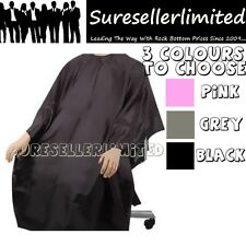 SALON BARBERS HAIR CUT/CUTTING HAIRDRESSING HAIRDRESSERS GOWN CAPE PINK BLACK GR