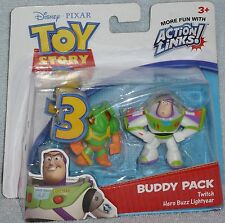 Disney Pixar Toy Story 3 Twitch & Hero Buzz Lightyear Buddy Pack Action Links