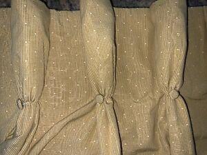 "GORGEOUS KRAVET SCALAMAMDRE CUSTOM PINCH PLEAT DRAPES~45""x94""L~GOLD/YELLOW"