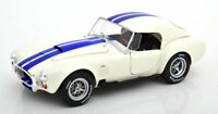 AC COBRA 427 S/C HARDTOP WHITE/BLUE 1.18 SCALE MODEL NICE DETAIL CLASSIC DIECAST