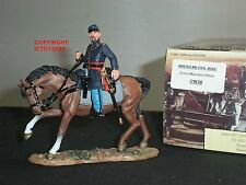 KING AND COUNTRY CW38 AMERICAN CIVIL WAR UNION OFFICER MOUNTED METAL TOY SOLDIER