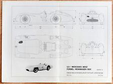 org, Mercedes Plakat Poster Mercedes-Benz W196 Silberpfeil Technische Zeichnung