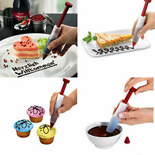 High Silicone Fondant Cake Pen Pastry Icing Writing Syringe Baking Decor Tools