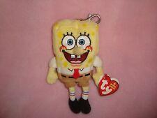 "2006 Ty Beanie SpongeBob SquarePants Keychain / Backback Clip Plush 5"""